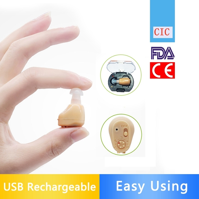 NEW Rechargeable audiphone Mini Hearing Aid Hearing Amplifier Ear Sound Amplifier Hearing Aids Rechargeable Hearing aid 1
