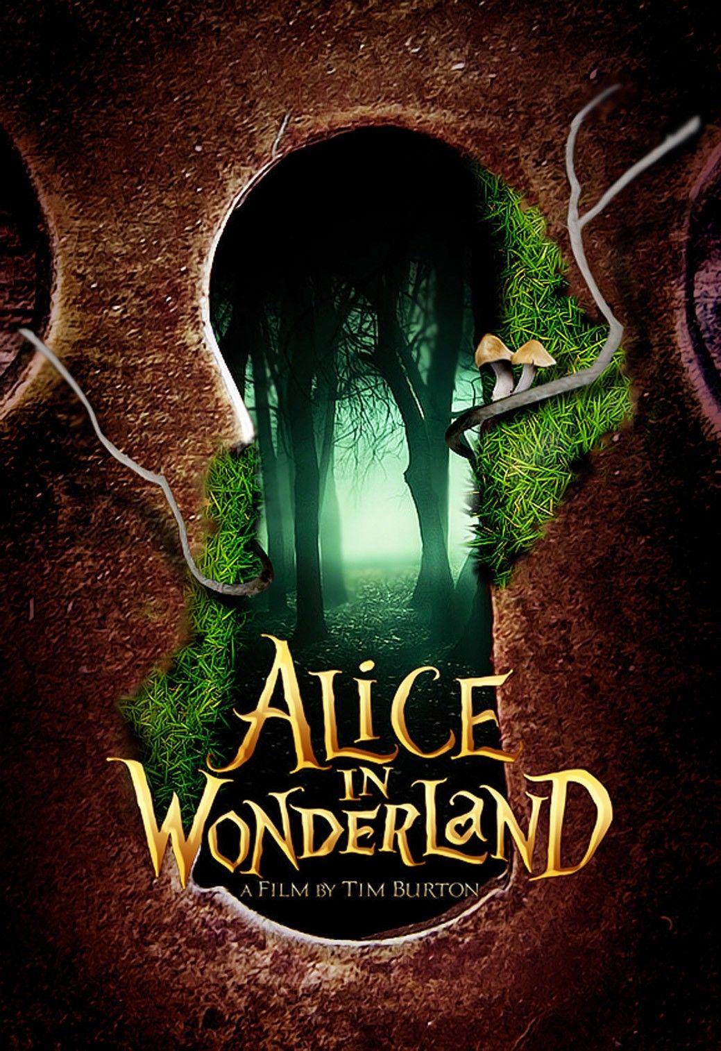 Alice au pays des merveilles film affiche 20x13 d cor 36 - Maison alice au pays des merveilles ...