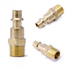 "1/4"" NPT Quick Coupler Air Line Hose Compressor Fittings Continental Male Connector Tool(China)"