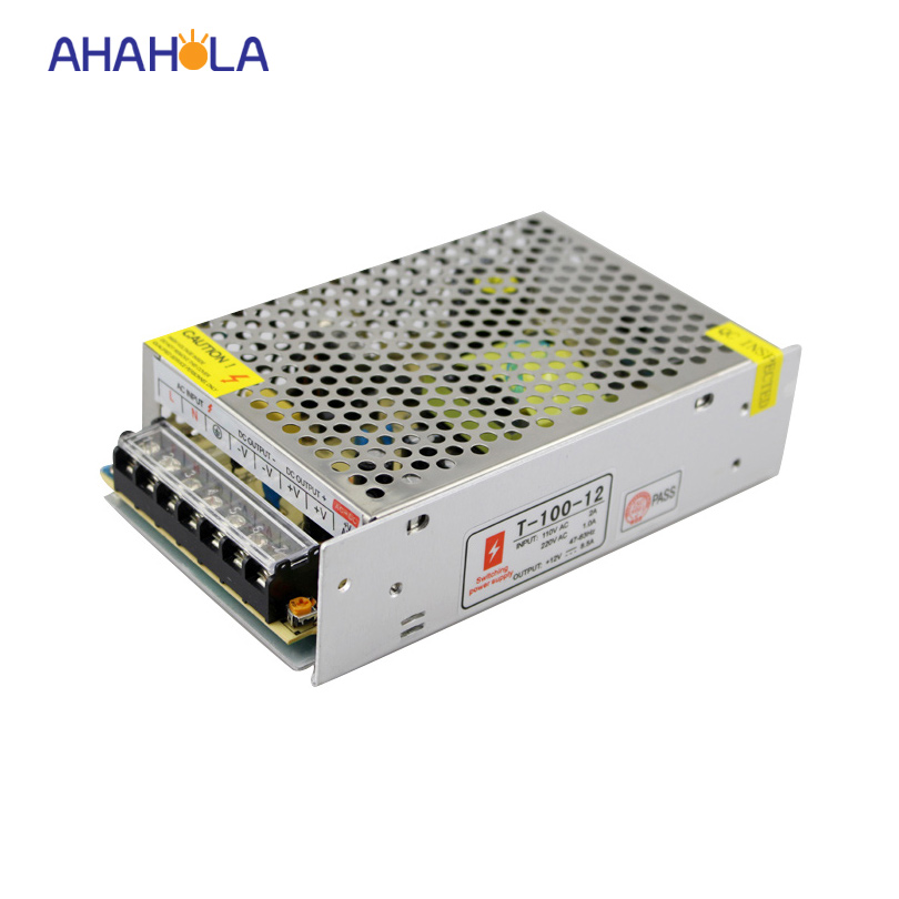 voltage transformer power supply ac 110v 220v to 12v dc,100w 12v 8.5a led switching power supply high voltage flyback transformer for co2 50w laser power supply