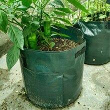 حقيبة حاويات لزراعة البطاطس والبطاطس من قماش البولي ايثيلين ، حقيبة لزراعة الخضروات والبستنة ، jardineria ، وعاء للحديقة ، حقيبة لزراعة النباتات
