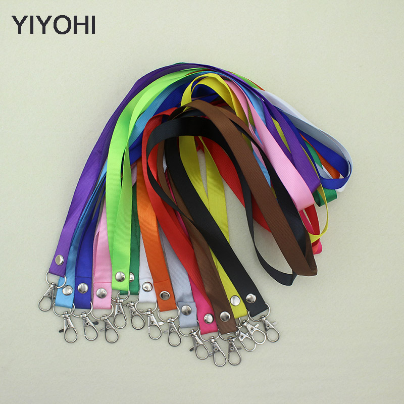 YIYOHI 1.5 cm wide High Quality Smile Face ID Card Badge Holder with Lanyard 14 colors to choose