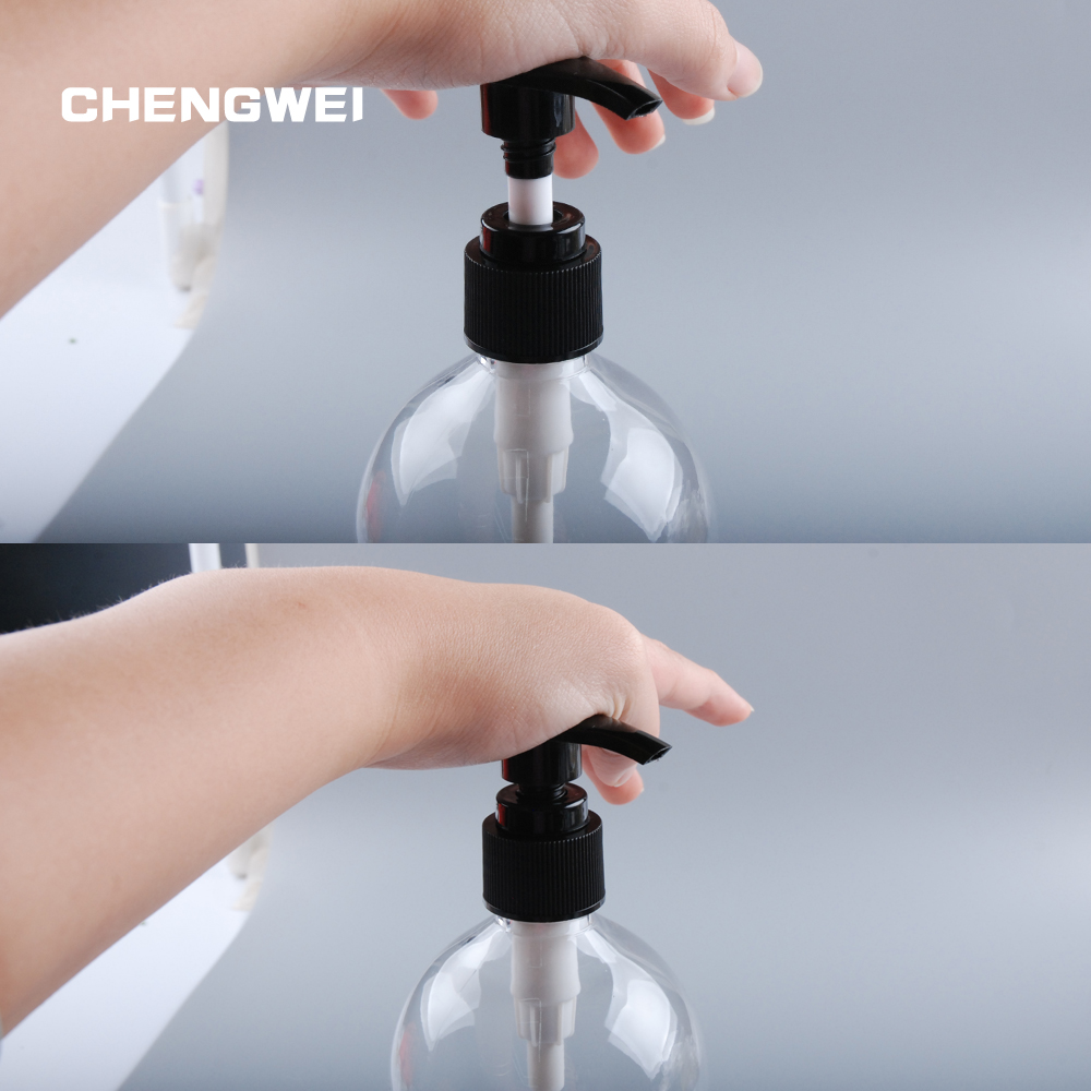 CHENGWEI PET Plastic Shampoo Lotion Bottle 500ml 3Pcs/Lot Empty Beauty Pump Refillable Bottles Cosmetic Container 10 50pcs 18 24r white black clear plastic powder press pump head nozzle for cosmetic lotion emulsion bottle with clear full cap