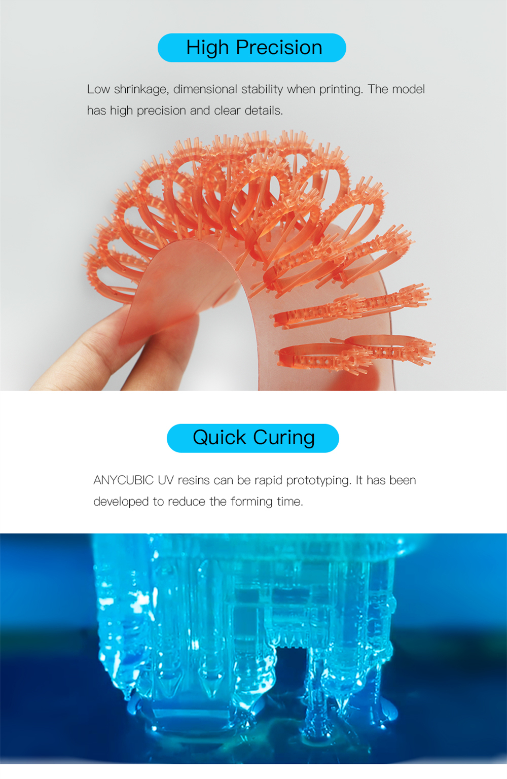 ANYCUBIC Photon 405nm UV Resin for Photon SLA 3D Printer 3