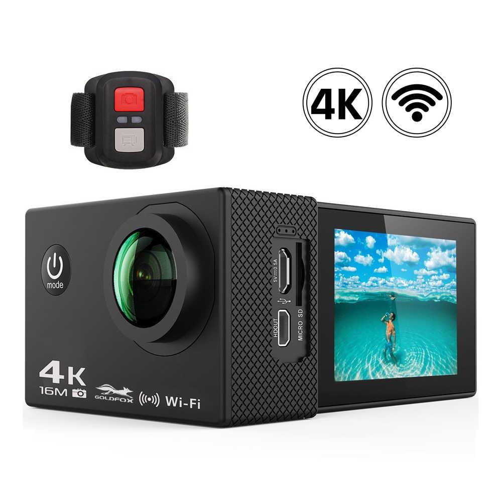 Ультра HD 4 K Спортивная Экшн-камера 1080 P Wifi 16MP Go Дайвинг профессиональная камера Водонепроницаемый Спорт на открытом воздухе DV пульт дистанционного управления камера шлем камера
