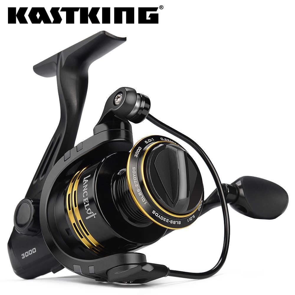 KastKing Lancelot 8 كجم أقصى قوة السحب 5.0: 1/4. 5:1 نسبة التروس 5 + 1 الكرات الكارب الصيد بكرة خفيفة الوزن الغزل بكرة