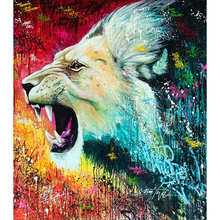 5D diy diamond painting Color Lions full square embroidery mosaic cross stitch needleworks H759