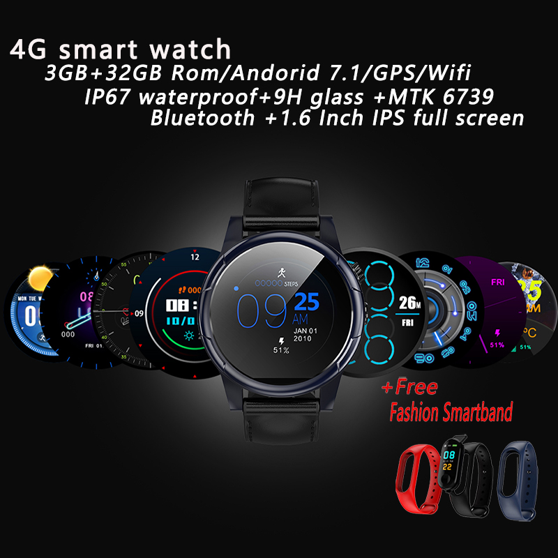 Kinyo 4G Smartwatch Phone BT 4 0 Android 7 1 Quad Core 1 3GHz 3GB RAM