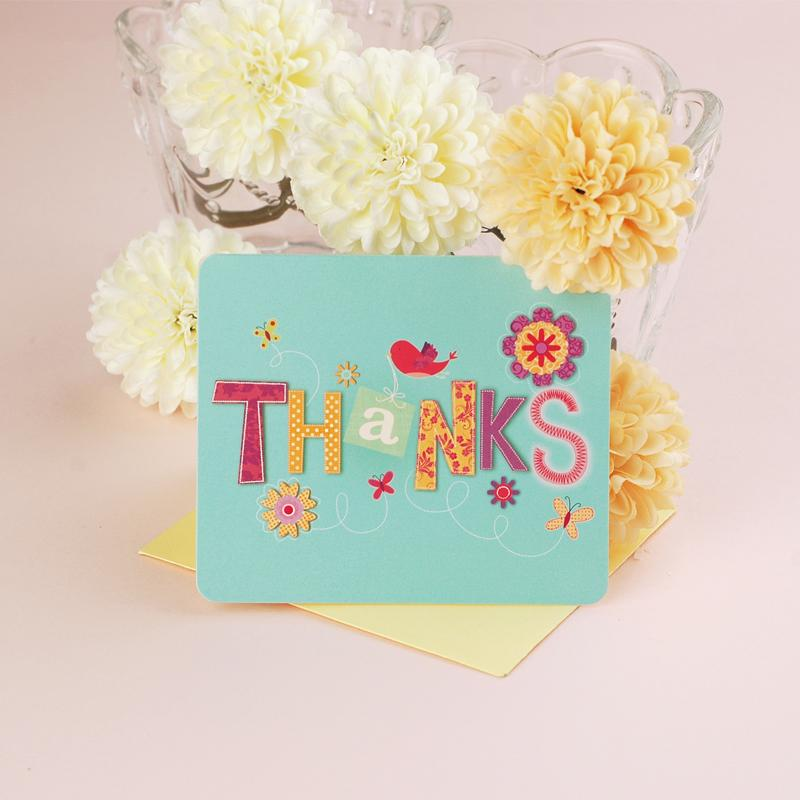 Spring new employees thanks greeting card business thanks ...