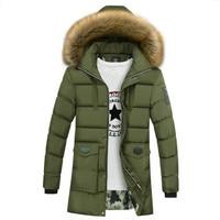 New Winter Parka for Men Jacket Solid Bubble Coat Knee length Puffer Jacket Warm Outwear Winter Jacket Men Windproof Hooded Coat