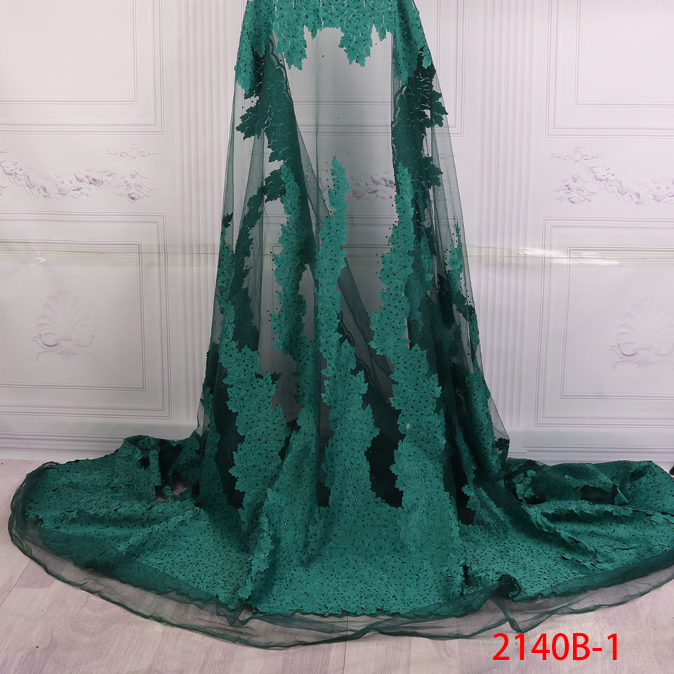 African Lace Fabric 2018 High Quality Lace For Bride Wedding Fabric Nigerian Green Tulle Lace Fabric