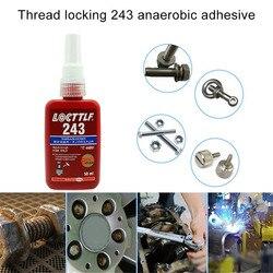 Винтовой Клей 50 мл 1 шт., блокирующий агент резьбы, анаэробный клей 243, клей, устойчивость к маслам, быстрая закрепка для всех видов металличес...