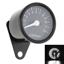 12V Motorcycle Scooter Black led Odometer Speedometer Gauge and Metal Shell for Universal