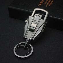 цена на Honest Car Key Chain Creative Cigarette Lighter Multifunction Tool Men Key Chain Ring Holder Fathers Day Gift High Grade Jewelry