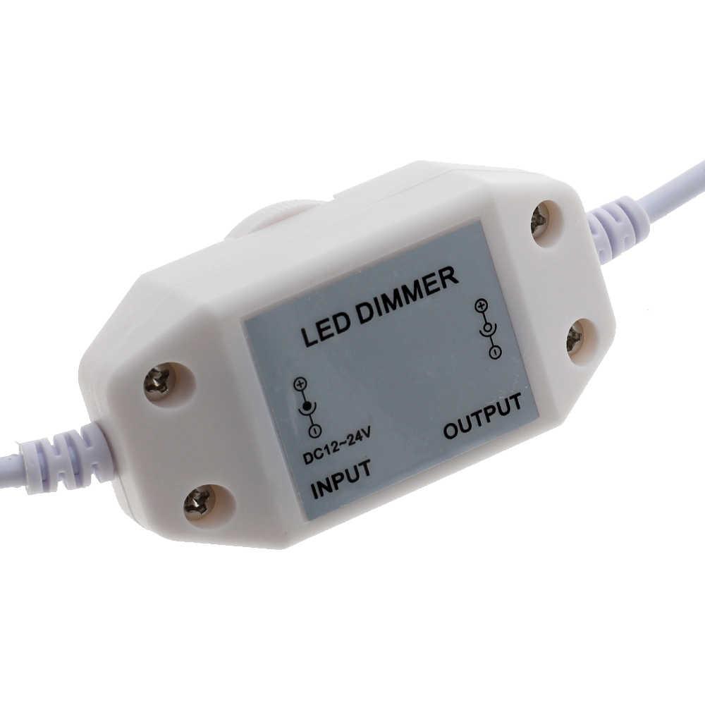 Светодиодный регулятор яркости Регулируемый контроллер для DC12-24V одноцветная Светодиодная лента затемнения