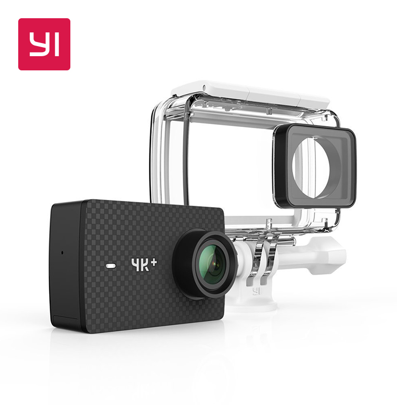 YI 4K Plus Action Camera Waterproof Case Set International Edition FIRST 4K 60fps Amba H2 SOC