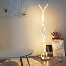 JAXLONG Modern LOFT LED Floor Lamps Iron Lights Rotating Dimming Switch Bedroom Living Room Standing  Decor