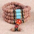 Ubeauty 8mm108 Nepal Rudraksha bodhi seed beads bracelets Tibetan Buddhist  prayer bracelet women  meditation necklace