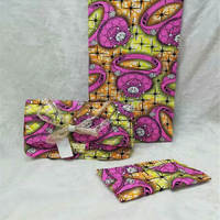 New Fashion arrival real regular real soft new wax fabric with woman's handbag set.african ankara wax bag for sewing ! L60530