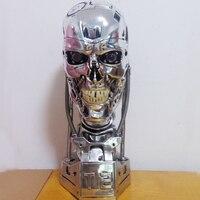 Высокое качество 1/1 Весы Терминатор T800 T2 череп эндоскелет Лифт Размеры бюст рисунок Смола Реплика светодиодный глаз
