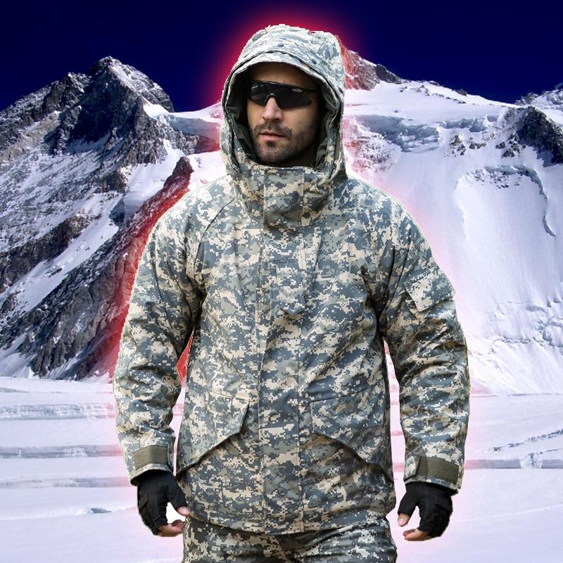 Jaka Vīrieši Ziemas G8 Militārā taktiskā ūdensnecaurlaidīga vēja necaurlaidīga silta maskēšanās Softshell jaka Fleece mētelis pārgājienu jaka