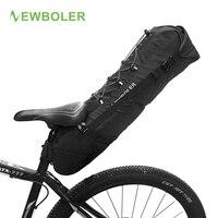 Newboler à prova dwaterproof água saco de sela da bicicleta grande cauda sacos assento tpu + poliéster ciclismo traseiro panniers acessórios da bicicleta 12l max|cycle rear pannier|bike saddle bag|rear panniers -