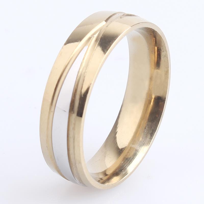 free shipping 6mm cross stripes 316L Stainless Steel finger rings for women men wholesale
