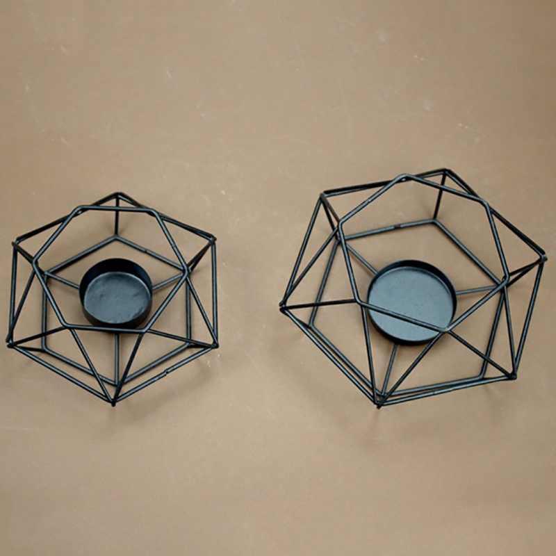 Украшения для дома геометрический подсвечник настенный подсвечник бра соответствующие Tealight сталь минималистский новый