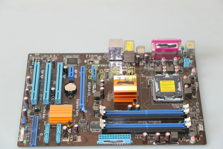 original motherboard for ASUS P5P41D DDR2 LGA 775 8GB SATA II G41 Desktop Motherboard Free shipping