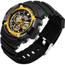 LED Digital Dual Display Watches Sport Fashion Chronograph Date Week Quartz Wristwatches Resin Band Women Watches reloj mujer