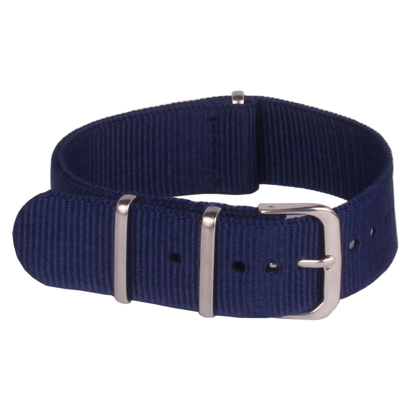 US $2 19 45% OFF|Retro Classic Watch 18 mm Army Navy Blue Military nato  fabric Woven Nylon watchband Strap Band Buckle belt 18mm accessories-in