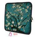 Cherry tree waterproof Soft Neoprene 10.1 13 13.3 15.6 17.3 Inch Universal Laptop Sleeve Bag Case Computer Cover Pouch NS-15111