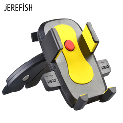 Jerefish Universal Car Air Vent Mobile Phone Holder CD Slot Mount Holder Stand for Smartphone iPhone X 8 Plus 7 6 Samsung Galaxy