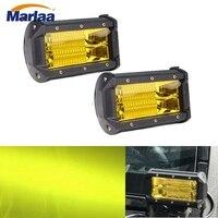 Marlaa 4pcs 5inch 72W Car ATV UTV SUV Truck Led Work Light Bar Offroad Motorcycle Foglights
