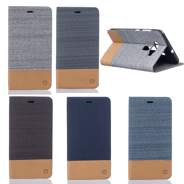 Fashion canvas Style Cover for ASUS Z012D Z012DC Z012DB ZENFONE 3 ZE552KL Case Flip Card Holder Phone Cases With Stand Function