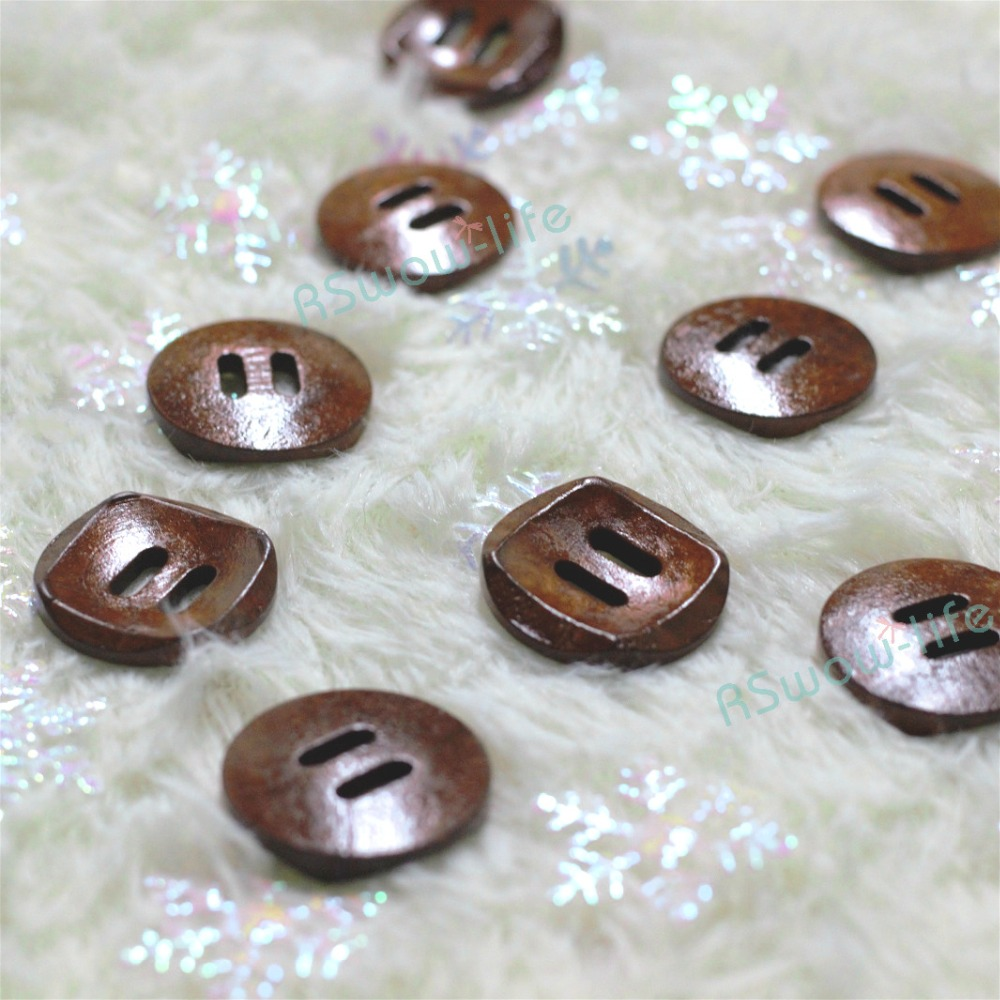35pcs a pack 30mm Bowl shaped Wooden Buttons Coat Wweater Home Clothes Handmade Buttons DIY Crafts Clothing Sewing Accessories in Buttons from Home Garden