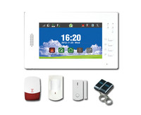 7 Inch TFT Monitor Touch Screen GSM Burglar Alarm System
