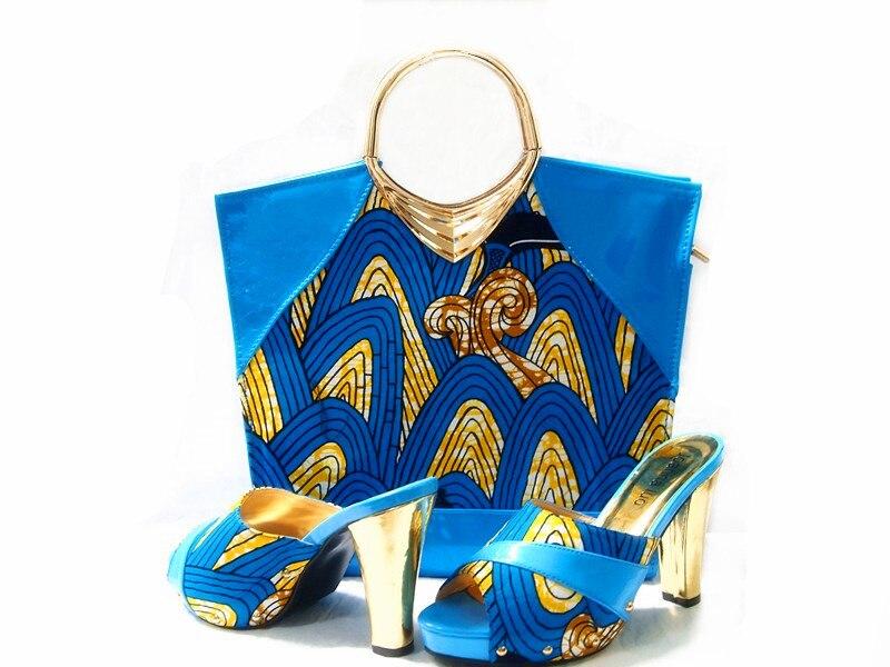ФОТО MAY31 Hot Selling African Super Holland Wax prints fabric matching bag Set for party (6Yards Super Wax + Handbag&Shoes)