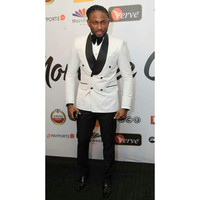 Popular Double Breasted Men Suits White Men's Prom Party Suits Red Carpet Tuxedos Terno Masculino (Jacket+Pants) G372