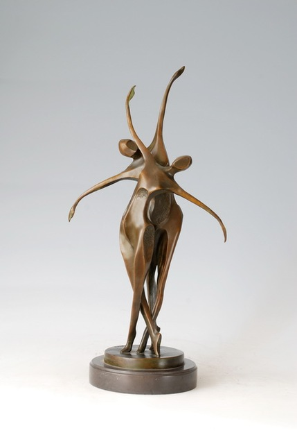 Atlie Bronzes Modern Bronze Sculptures Double Dancers Figurine Abstract Life Home Decor Business Gifts Pas De