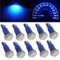 10X Синий T5 5050 1SMD Клин Приборной Панели Автомобиля Светодиодные Лампы 2721 74 73 70 17 18 37