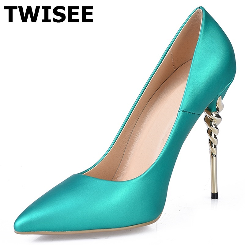 TWISEE Basic Women's Pointed Toe High Heels Spring/Autumn Summer Platform Shoes Woman Party Pumps Ladies Wedding Shoes new spring summer women pumps fashion pointed toe high heels shoes woman party wedding ladies shoes leopard pu leather