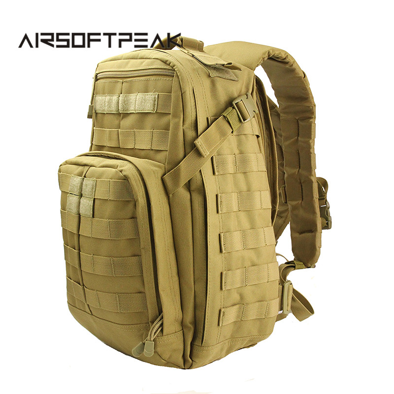 40L Outdoor Multifunctional Climbing Backpack Military Tactical Molle Shoulder Pack Camping Hunting Bags Travel Rucksack airsoftpeak military tactical waist hunting bags 1000d outdoor multifunctional edc molle bag durable belt pouch magazine pocket