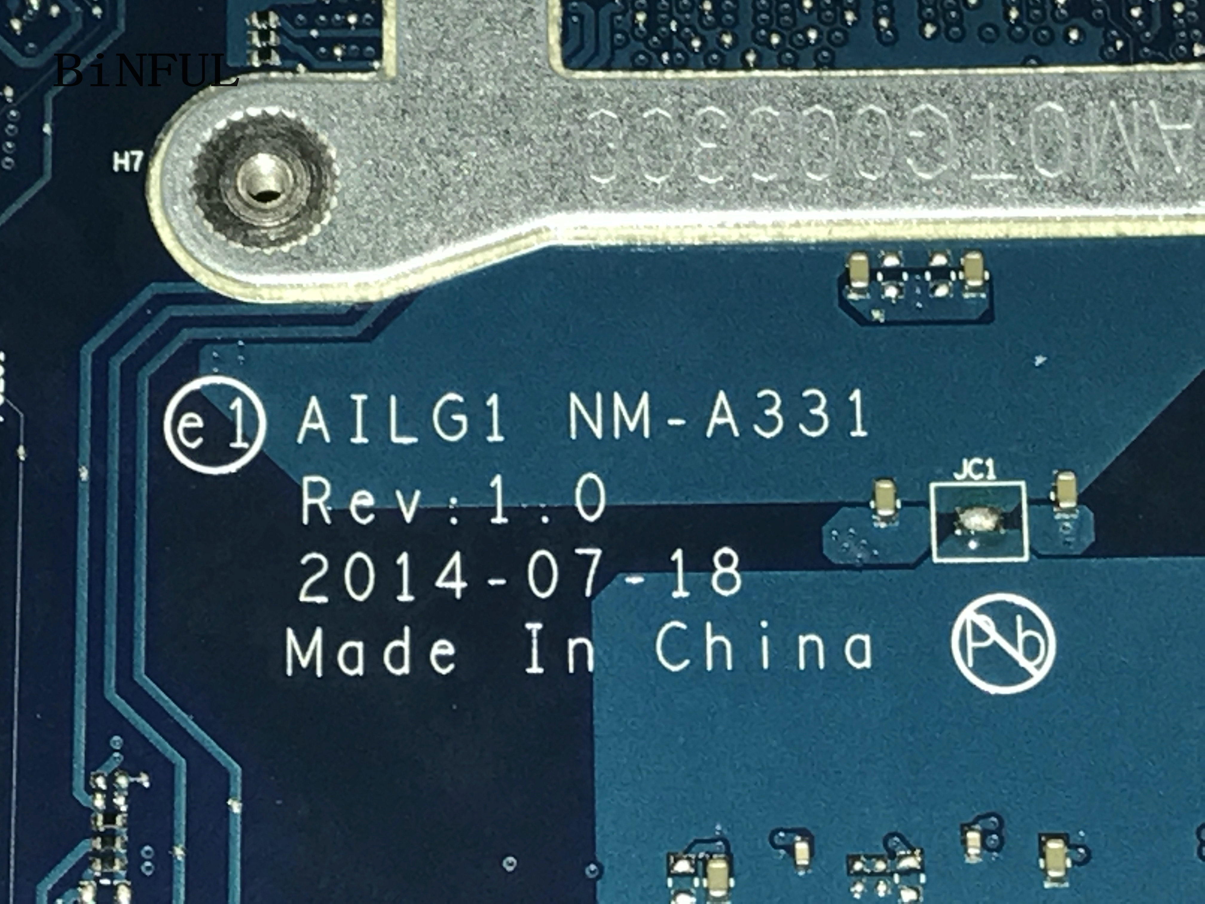 BiNFUL 100% NEW AILG1 NM-A331FOR LENOVO G70-80 / G70-70 LAPTOP MOTHERBOARD BUILD-IN VIDEO CARD+PROCESSOR 3825U (fit i3 i5 i7 )BiNFUL 100% NEW AILG1 NM-A331FOR LENOVO G70-80 / G70-70 LAPTOP MOTHERBOARD BUILD-IN VIDEO CARD+PROCESSOR 3825U (fit i3 i5 i7 )