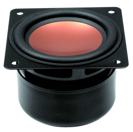 2PCS Original HiVi B3S 3inch Midrange Speaker Driver Unit Magnesium Aluminum Cone Magnetism Shielded 8ohm/15W Square Frame