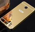 De Aluminio De lujo Caso De Espejo de Acrílico Para Meizu Contraportada Protectora Del Teléfono Móvil Para Meilan Meilan 3 S 3 S