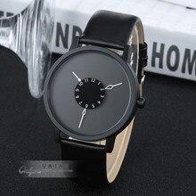 Paidu De Mode Cool Unique Conception Bracelet À Quartz Platine Cadran Noir Horloge Heures Hommes Femmes Cadeau Unisexe relogio masculino