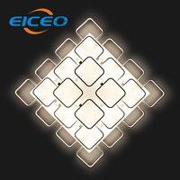 (Eiceo) прямоугольный Гостиная лампа современный минималистский атмосфера светодиодный потолочный Алюминий лампа Освещение конференц залы
