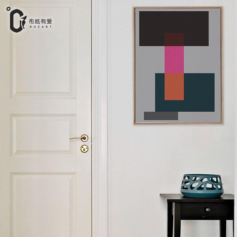 Grau leinwand abstrakte malerei leinwand bilder für wohnzimmer wand ...