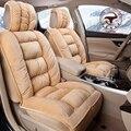Alta Qualidade Geral Tampa de Assento Do Carro Imitação De Peles Quentes Reunindo Tapetes de Tecido de Pelúcia Tapetes de Carro Inverno Almofada Do Assento de Carro Styling